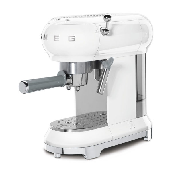 Espresso Coffee Machine 50'S Style White