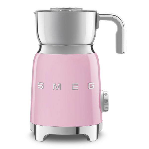 Milk Frother 50's Retro Style, Pink