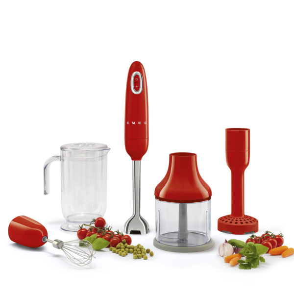 Hand Blender, Red Incl Attachments