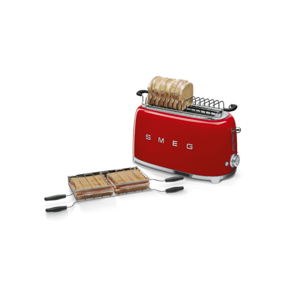 4-Slice Toaster, Red